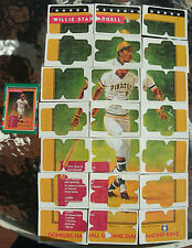 (4) 1990 Willie Stargell Donruss Hall of Fame Puzzle w/Trading Card