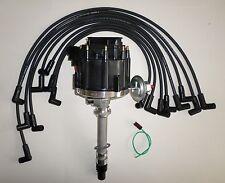 CORVETTE TACH DRIVE HEI Distributor &  BLACK SPARK PLUG WIRES over valve covers