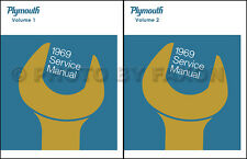 1969 Plymouth Shop Manual  Belvedere Road Runner Satellite GTX Repair Service 69