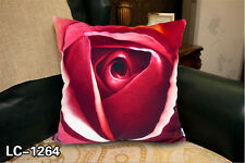 RED ROSE VELVETEEN PILLOWCASE WEDDING GIFT SOFA CAR CUSHION COVER BOTH SIDES