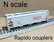 Union Pacific UP 3 bay PS-2 covered hopper car N scale Atlas gray grain round RR