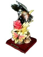 D Montefiori Collection Italy Hummingbird Series Sculpture Figure butterfly mint