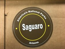 "AMERICA'S NATIONAL PARK SAGUARO ARIZONA 3 1/4"" CIRCLE STICKER"