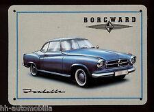 Miniaturblechschild Borgward Isabella Coupé Blechkarte Blechschild Auto PKW