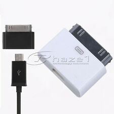 i-phone 3 4 30pin to Micro USB Charge Sync Cable Adapter - also suits iPad iPod