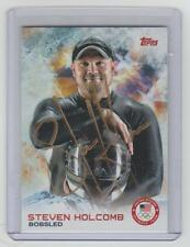STEVEN HOLCOMB Signed 2014 Topps Olympics #45 Autograph ON CARD AUTO Gold Medal
