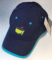 2019 Masters golf hat navy turquiose performance american needle pga new