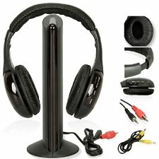 New Wireless Headphones Headset Cordless RF with Mic for CD MP3 MP4 PC TV DVD CA