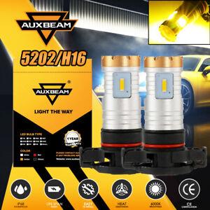 AUXBEAM Amber 5202 H16 LED Headlight Bulbs Conversion Kit 20W 4-Sided Fog Lights
