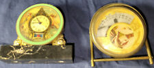 Lot of 2 Miniature Clocks for Parts/Repair - 1 French (Lancel) + 1 Swiss