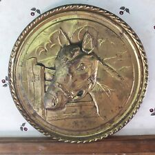 Old Copper Wall Hanging Horse Decoration From Old-Time Farm Auction in Minnesota