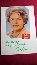 Original-Autogramm von Grete Wurm (verst.), mit Farb-Magazinbild, insg. Din A4