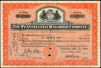 Pennsylvania Railroad Company Stock Certificate - Horse Logo