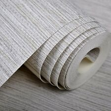 Natural Vinyl Textured Faux Grasscloth Wallpaper Roll TV Room Background