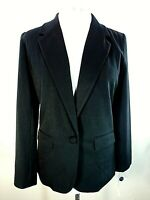 NWT A NEW DAY 10 Black Blazer Jacket One Button Pockets Notched Collar Business