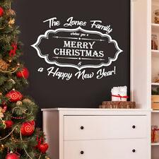 800mm Personalizzato Nome Famiglia Buon Natale finestra parete/decalcomania Sticker di Natale