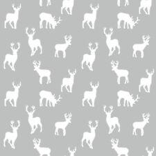 PrestigiousGarden Birds Grey Graphite Cotton PVC WIPE CLEAN Tablecloth Oilcloth