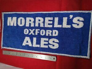 Morrell's Brewery Vintage 1970s Oxford Ales British Pub Bar Towel. Rare. ManCave