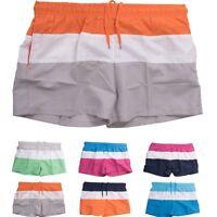 Hommes Swim Shorts Malles short court été beachwear rayé troncs de natation