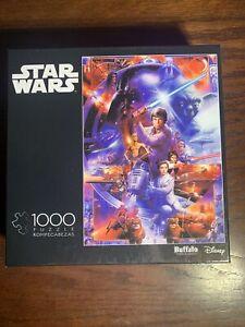 Buffalo Games Star Wars 1000 Piece Puzzle First Trilogy Luke Vader Leia Yoda