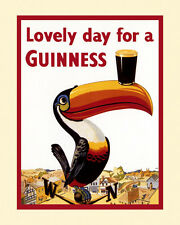 Beer Guinness Toucan Irish Ireland 16X20  Poster Repro Free Ship in USA