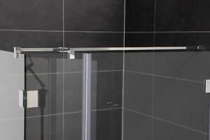 Stabilisationsstange für Dusche, Eckig, Glas-Wand mit Seitenarm