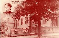LIZZIE BORDEN POSTCARD-Aug.4th, 1892 Fall River Tragedy - Limited Printing
