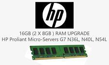 16GB (2x 8GB) ECC RAM upgrade for HP Proliant Micro-servers G7 N36L, N40L, N54L