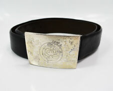 Baldessarini Mens Leather Belt with Custom Buckle Black Size 38