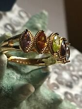 Simulant Eterno Yellow Ring Size 8 Vanna K 1.52ctw Multi Color Gem