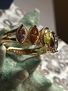 Vanna K 1.52ctw Multi Color Gem Simulant Eterno Yellow Ring Size 8