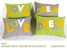 """Cuscino stoffa imbottito cm35*25 """"Love & Dream"""""""