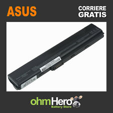 Batteria POTENZIATA 7800mAh per Asus A52J, K52F, K52J, X52F, X52J