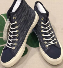 FRYE Ludlow Canvas Navy Blue Printed High-Top Sneaker Size 10.5