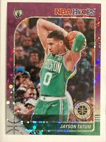 2019-20 NBA Hoops Premium Stock RARE Purple Disco Prizm # 6 Jayson Tatum SP