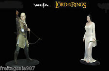 LORD OF THE RINGS HOBBIT  ARWEN LEGOLAS  2 statues 30cm Sideshow Weta