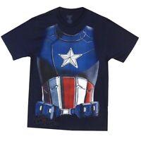 Captain America Movie Costume Shirt Marvel Comics Licensed Adult T-Shirt