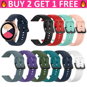 For Samsung Galaxy Watch 3 41mm Active 2 40mm 44mm Silicone 20mm Soft Band Strap