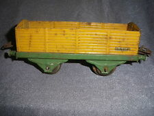 368B Antique Hornby Meccano Paris Wagon Tombereau Jaune SNCF 1:43,5 O 1/43,5