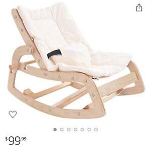 Little Dove 3-in-1 Convertible Wooden Recliner Rocker Chair Toddler Infants New
