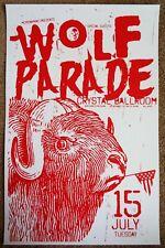 Wolf Parade 2008 Gig Poster Portland Oregon Concert