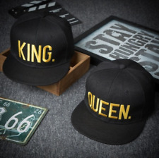 ✅UK STOCK✅ COUPLES KING AND QUEEN GOLD cap/Snapback/Flat cap/Fashion Hats/Hiphop