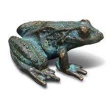 Bronzefigur Frosch liegend 9 cm Bronzeskulptur Bronzetier Gartendeko Hausdeko