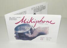 Mikiphone Pocket Phonograph Gramophone ENGLISH Instruction Manual Reproduction