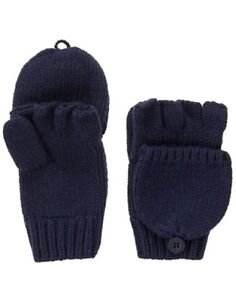 GYMBOREE BUFFALO LODGE NAVY CONVERTIBLE 2-IN -1 SWEATER GLOVES 5 6 7 8 10 12 NWT