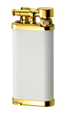 IM Corona Old Boy White Matte with Gold Plate Pipe Lighter - New in box