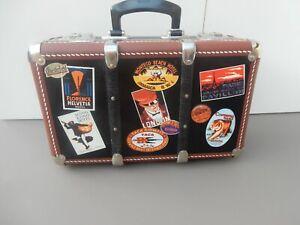 Vintage Hartschale- Kinderkoffer - Spielkoffer - Reisekoffer, Braun / Schwarz.