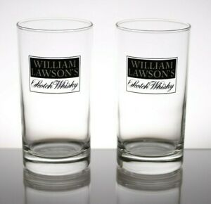 2x William Lawson's Scotch Whisky Glasses 250ml
