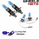 2x H1 & H3 55w HALOGEN HID XENON GAS FILLED BULBS upto 50% BRIGHTER Super White
