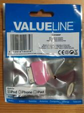 30 Pin male to Micro USB B Female Adapter for iPhone 4 4s iPad iPod  PINK